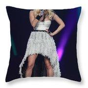 Singer Carrie Underwood Throw Pillow