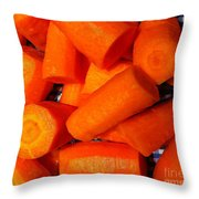 Carrots Ready To Cook Throw Pillow