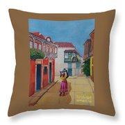 Cartagena Seller Throw Pillow