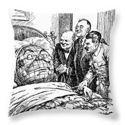 Cartoon: Big Three, 1945 Throw Pillow