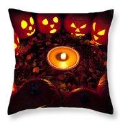 Pumpkin Seance With Pumpkin Pie Throw Pillow