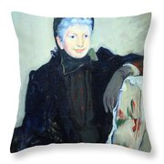 Cassatt's Portrait Of An Elderly Lady Throw Pillow