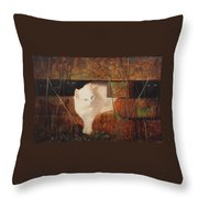 Castaway Cats Throw Pillow