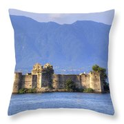 Castelli Di Cannero Throw Pillow