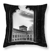 Castello Visconteo Throw Pillow