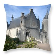 Castle Loches - France Throw Pillow