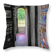 Castle Passageway Throw Pillow