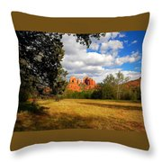 Cathedral Clearing Throw Pillow