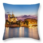 Cathedral Notre Dame Throw Pillow
