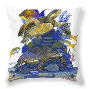 Cayman Turtles Throw Pillow