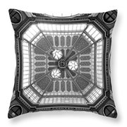 Ceiling Of Leadenhall Market In London Throw Pillow