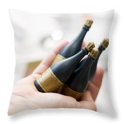 Celebration Champaign Bubbles Throw Pillow