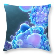 Cell Life Cycle Throw Pillow