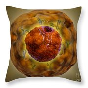 Cell Nucleus With Chromosome Throw Pillow