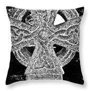 Celtic Cross Throw Pillow by David Pyatt