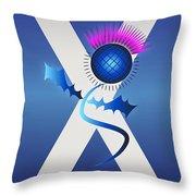 Celtic Thistle Throw Pillow