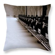 Central Park Mall Throw Pillow
