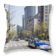 Central Shanghai In China Throw Pillow