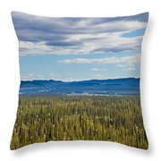 Central Yukon T Canada Taiga And Ogilvie Mountains Throw Pillow