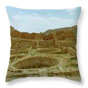 Chaco Canyon Ruins Throw Pillow