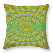 Chakra Mandala Green Wheel Meditation Unique Style Creative Beads Crystal Energy Healing Round Oval  Throw Pillow