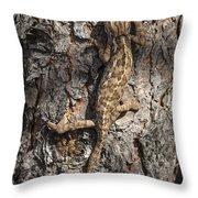 Chameleon Climbing Throw Pillow