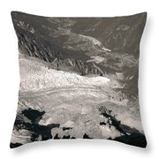 Chamonix From Above Throw Pillow