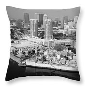 Channel District Tampa Florida Throw Pillow