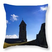 Chapel. Auvergne. France Throw Pillow by Bernard Jaubert