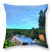 Chardonnay Vineyard 17954 Throw Pillow