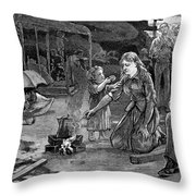 Charleston Earthquake Throw Pillow
