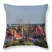 Charleston Rooftops Throw Pillow