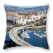 Charleston Waterfront And Marina South Carolina Throw Pillow