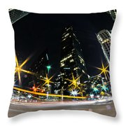 Charlotte Nc Usa - Nightlife Around Charlotte Throw Pillow