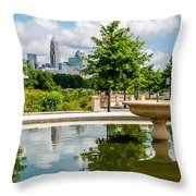 Charlotte North Carolina View From Greenway Throw Pillow