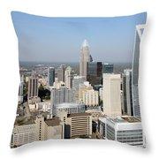 Charlotte Skyline Throw Pillow