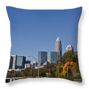Charlotte Skyline Throw Pillow