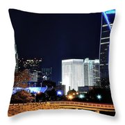Charlotte Towers Throw Pillow