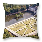 Chateau De Chenonceau And Its Gardens Throw Pillow