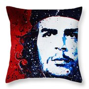 Che Throw Pillow by Chris Mackie