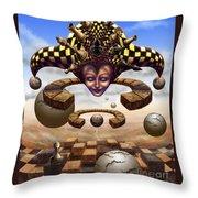 The Chess Master Throw Pillow
