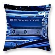 Chevrolet Corvette Engine Throw Pillow
