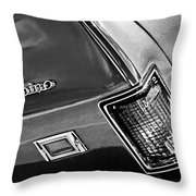 Chevrolet El Camino Taillight Emblem Throw Pillow