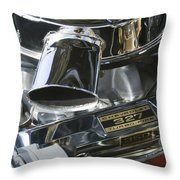 Chevrolet Engine Throw Pillow