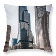 Chicago Architecture Throw Pillow