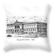 Chicago Art Institute - 1879 Throw Pillow