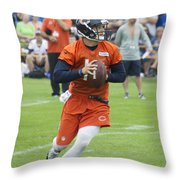 Chicago Bears Qb David Foles Training Camp 2014 05 Throw Pillow