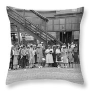 Chicago Commuters, 1940 Throw Pillow