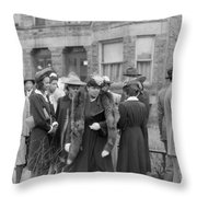 Chicago Easter, 1941 Throw Pillow