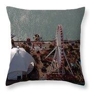 Chicago Navy Pier Throw Pillow